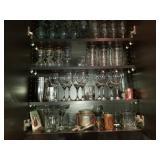 Huge Lot of Barware Serving Glasses