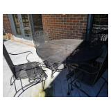 Wrought Iron Outdoor Patio Table and Chairs