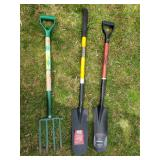 Brand New Garden Shovels and Fork