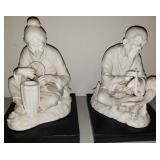 Vintage Lot Of 2 Lenwile China Ardalt Verithin Figurines