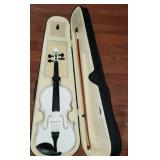 Beautiful White Violin with Case