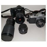 Sony a200 and Pentax K1000 Cameras