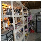Basement is Full of Shelving and Personal Property
