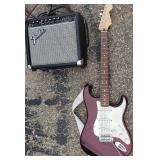 Fender Stratocaster Electric Guitar with Amp