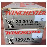 2 Boxes Winchester 30-30 150 Grain Ammunition