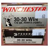 2 Boxes Federal & Winchester 30-30 plus Extra
