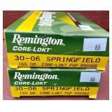 2 Boxes Remington 30-06 Springfield 150 Grain Ammo