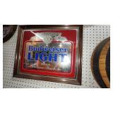 Budweiser Light Bar Mirror