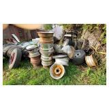 Large Assortment of Car Tire Rims