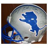 3029: Detroit Lions Multi Signed Full Size Helmet with Desmond Howar