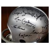 3034: 1957 Detroit Lions World Champions Multi Signed Football Helmet