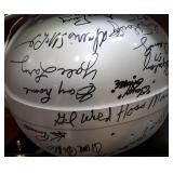3035: 1957 Detroit Lions World Champions Multi Signed Football Helmet