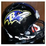3040: Baltimore Ravens Ray Lewis Signed Football Helmet