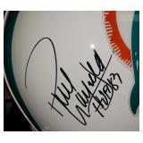 3041: Miami Dolphins Paul Warfield Autographed Football Helmet