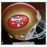 3045: San Francisco 49ers John Brodie Signed Full Size Football Helmet