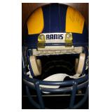 3046: LA Rams Crazy Legs Hersh and Tom Fears Signed Full Size Helmet