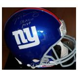3049: New York Giants, Eli Manning Signed MVP Football Helmet