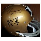 3051:Roger Staubach Navy Jolly Roger Throwback RK Helmet with Heisman 63