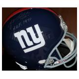 3056: New York Giants, YA Tittle Signed Full-Size Helmet