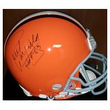 3058: Cleveland Browns, Paul Warfield Signed Full-Size Football Helmet
