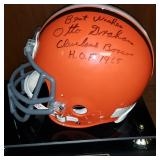 3061: Cleveland Browns, Otto Graham Signed Full-Size Football Helmet