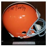 3062: Cleveland Browns, Ozzie Newsome Signed Full-Size Football Helmet