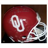 3064: Oklahoma University Billy Sims Autographed Full-Size Football Helmet