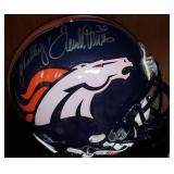 3082: Denver Broncos John Elway and Terrell Davis Autographed Full-Size Helmet