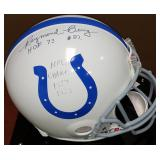 3078: Baltimore Colts Raymond Berry Autographed Football Helmet