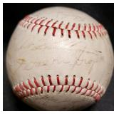 3130: Vintage Detroit Tigers Signed Baseball