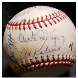 3116: 1971 Detroit Tigers Team Signed Baseball
