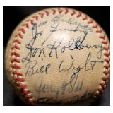 3115: 1952 Detroit Tigers Team Autographed Basebal
