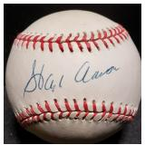 3135: Atlanta Braves, Hank Aaron Signed  Baseball