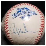 3134: Rickey Henderson Signed 1989 World  Series Baseball