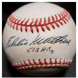 3144:Eddie Mathews Signed Baseball