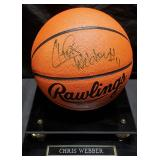 3155: Chris Webber Autographed Basketball