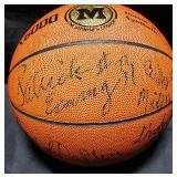 3154: Multi-Star Signed Basketball: Patrick Ewing etc.