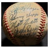 3115: 1952 Detroit Tigers Team Autographed Baseball