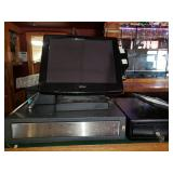 Point of Sale System with Monitor, Register, Credit Card etc.