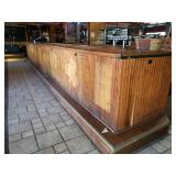 Large Full Size Wooden Bar