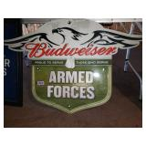 Budweiser Armed Forces Tin Sign