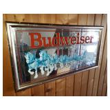 Large Budweiser Beer Mirror