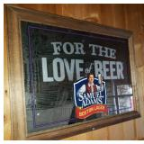 Samuel Adams Large Promo Mirror