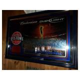 Detroit Pistons Basketball Beer Mirror Promo