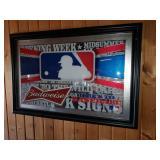 Large Budweiser Baseball Promo Mirror