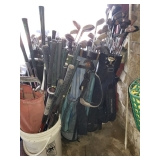 Group of Golf Clubs