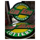 Michigan Club Keno Lottery Sign