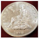 1878-S Silver Seated Liberty Trade Dollar