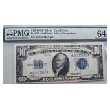 1934 $10 Uncirculated Silver Certificate PMG 64 EP