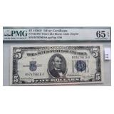 1934-D $5 Silver Certificate FR #1654 Wi Wide I